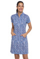 IBKUL Carie Short Sleeve Mock Dress
