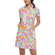 IBKUL Tillie Short Sleeve Mock Dress