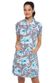 IBKUL Eva Short Sleeve Mock Dress