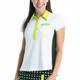 KINONA Button and Run Short Sleeve Top - White/Black