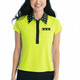 KINONA Button and Run Short Sleeve Top - Chartreuse