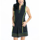 KINONA Kick Pleat Chic Sleeveless Dress - Black