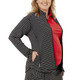Nancy Lopez Jazzy Stretch Jacket - Black/White Stripe
