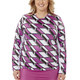 Nancy Lopez Aspiration Long Sleeve Crewneck - White Multi