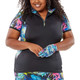 Nancy Lopez Paradise Short Sleeve Mock - Paradise