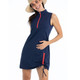 KINONA Rouched and Ready Sleeveless Dress - Navy