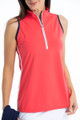 KINONA Rouched and Ready Sleeveless Top - Watermelon Red