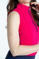 KINONA Keep it Covered Sleeveless Mock - Raspberry Red