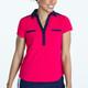 KINONA Shoulder Opener Short Sleeve Polo - Raspberry Red