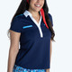KINONA Shoulder Opener Short Sleeve Polo - Navy