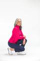 KINONA Keep It Covered Long Sleeve Mock - Raspberry Red