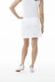SanSoleil SunGlow Tennis Skort - Flag Day White