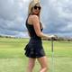 FlirTee Ruffle Butt Golf Dress - Black