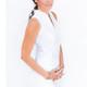 Amy Sport Frontline Sleeveless Mock - White