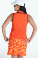 KINONA Shape Shifter Sleeveless Polo - Orange