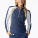 Daily Sports Roxa Long Sleeve Mock - Baltic Blue