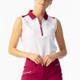 Daily Sports Roxa Sleeveless Polo - White/Plum