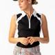Daily Sports Roxa Sleeveless Polo - Black/White