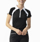 Daily Sports Roxa Cap Sleeve Polo - Black/White