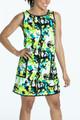 Chic Shift Sleeveless Golf Dress - Splatter