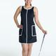 KINONA Chic Shift Sleeveless Golf Dress - Black
