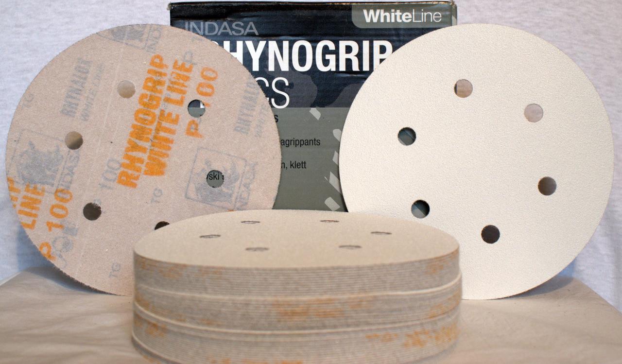 50 Discs Free Ship Indasa DA Sanding Discs 220 Grit  6 inch  PSA  No Hole