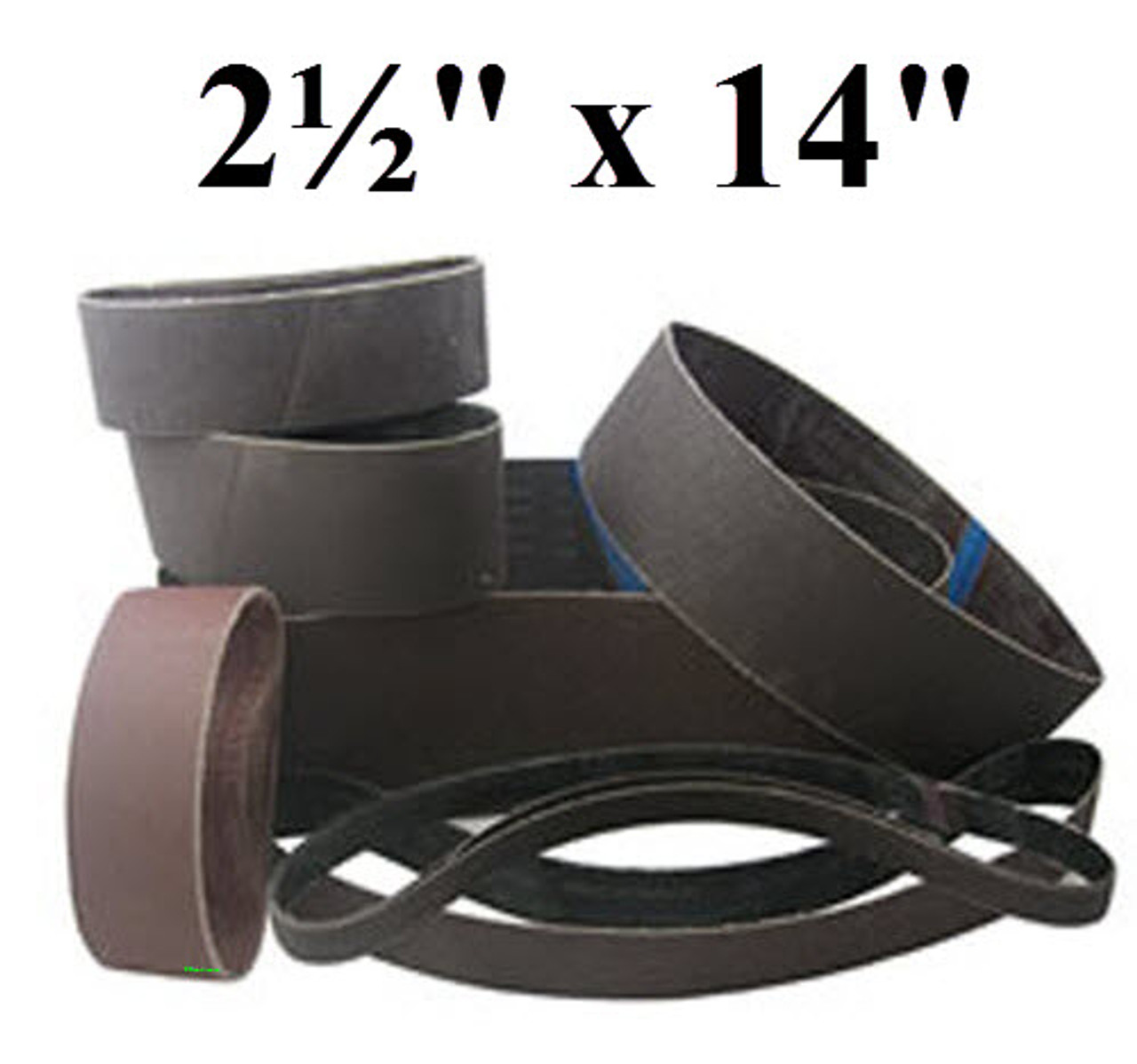 2 1//2 X 60 Inch 180 Grit Silicon Carbide Sanding Belts 6 Pack