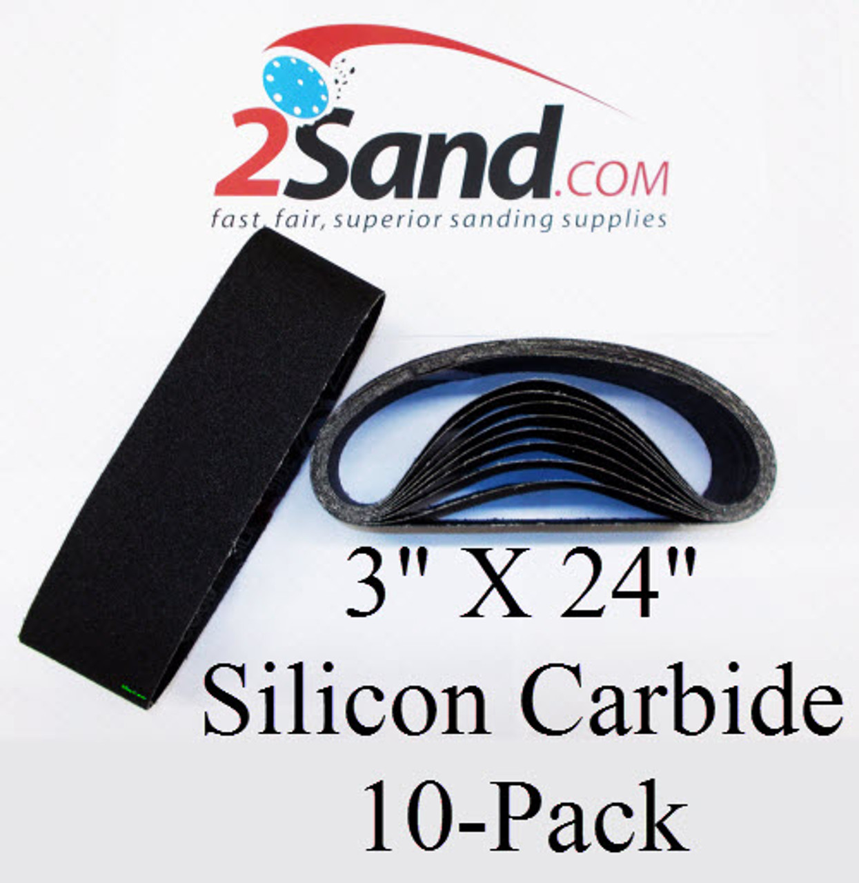 8 Pack 3 X 21 Inch 600 Grit Silicon Carbide Sanding Belts