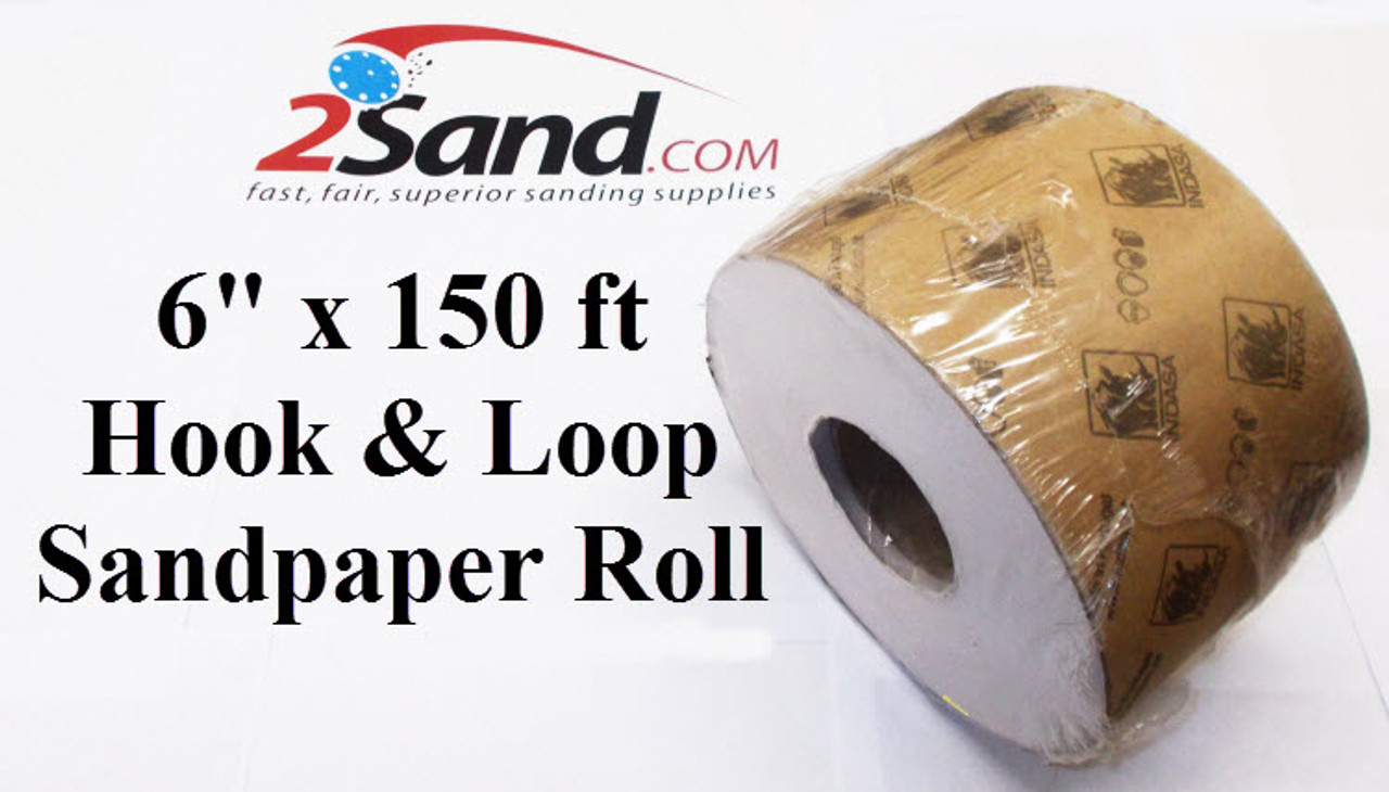 6 in  x 150 ft Hook and Loop Drum Sandpaper Roll