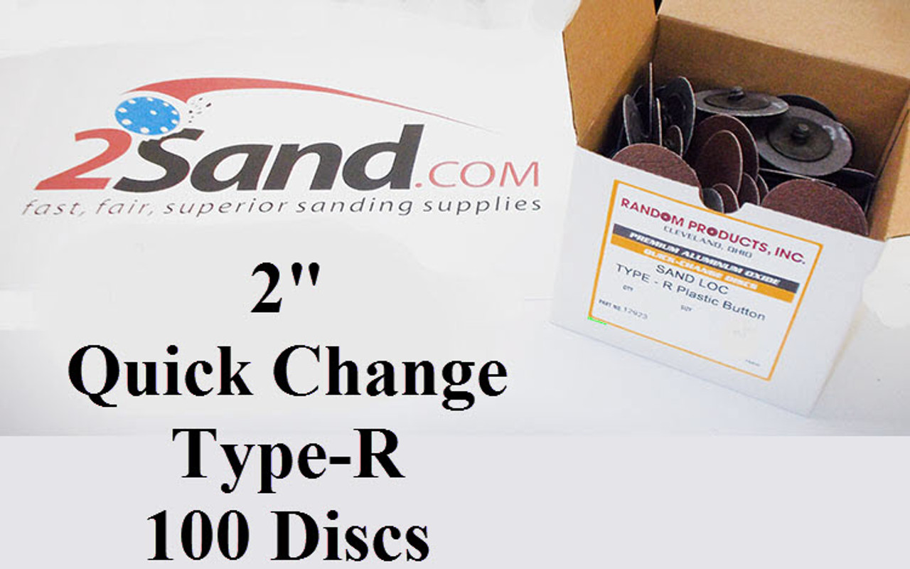 2 Inch Quick Change Premium AlOx Resin Bond Type-R Discs 100-Pack