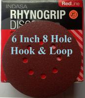 """Box of 50 6/"""" Solid Rhynogrip Hook /& Loop Discs 36 Grit AOIndasa 61-36"""