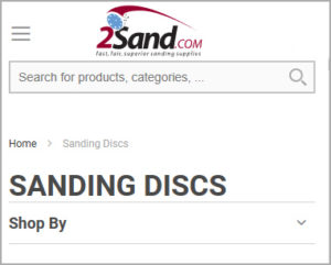 Shop for sandpaper from your mobile device
