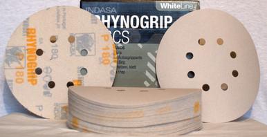 INDASA Redline XL RHYNOGRIP Hook and Loop Solid Discs 6 320 GRIT 50//Box
