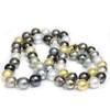 Tahitian & South Sea Opera Pearl Necklace  15 - 13 mm  AAA-
