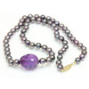 Akoya Pearl & Amethyst Necklace 6.5 - 6 MM AAA