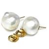 South Sea Baroque Pearl Stud Earrings 16.5 MM AAA