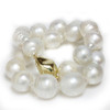 South Sea Baroque Pearl Necklace  20 - 16 MM White AAA-