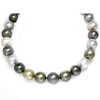 Tahitian South Sea Pearl Necklace 18 - 15 MM Multi color AAA