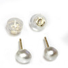 South Sea Baroque Pearl Stud Earrings 5 MM  AAA Flawless