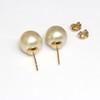 South Sea Pearl Stud Earrings 18kt 11 MM Golden AAA