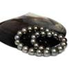 Tahitian Pearl Necklace 15 - 12 mm Dark Gray AAA