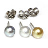 Tahitian & South Sea Keshi Stud Baroque Pearl Earrings AAA