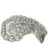 Akoya Pearl Necklace 7.5 - 3.5 MM Silver AAA-