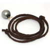 Tahitian Pearl Leather Necklace  13 MM Gray Black AAA