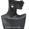 Japanese Akoya Pearl Latin Hoop Earrings