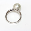 South Sea Pearl & Diamond Sincere Ring 11 MM Ivory AAA