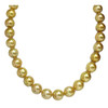 South Sea Pearl Necklace 14 - 12 MM Deep Golden AAA
