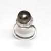 Tahitian Pearl & Diamond Halo Ring 11 MM AAA Flawless 1