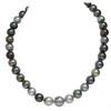 Tahitian Pearl Necklace 13 - 10 mm AAA- Soft Multi color