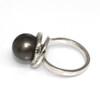 Tahitian Pearl & Diamond Halo Ring 11 MM AAA Flawless 2